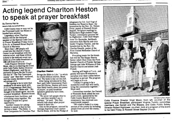 1997 Fall Keynote Speaker - Chalton Heston